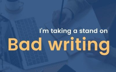 I'm taking a stand on bad writing